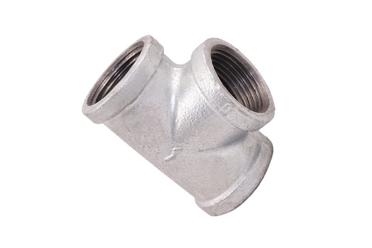 Durable Malleable Iron Pipe Fittings Galvanised Water Pipe Sanitary Tee Fitting
